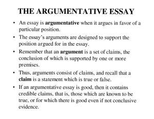 how to write an persuasive essay are